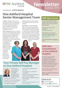 One Ashford Summer Newsletter